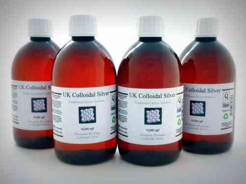 6 x 500ml Plastic Amber Colloidal Silver