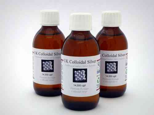 3 x 200ml Glass Amber Colloidal Silver