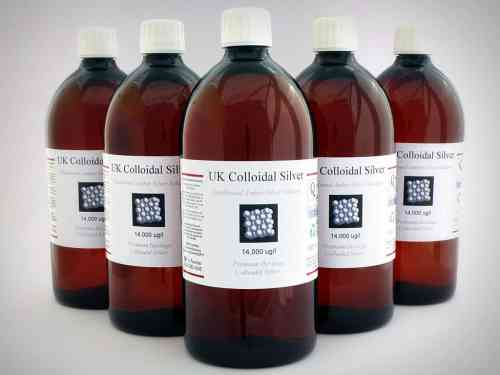 12 x 1000ml Plastic Amber Colloidal Silver